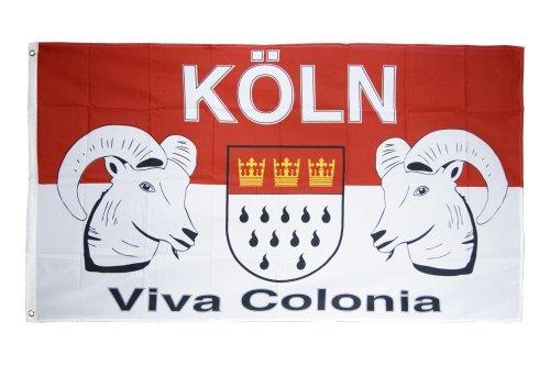 Flaggenfritze® Fanflagge Köln Viva Colonia 90x150cm