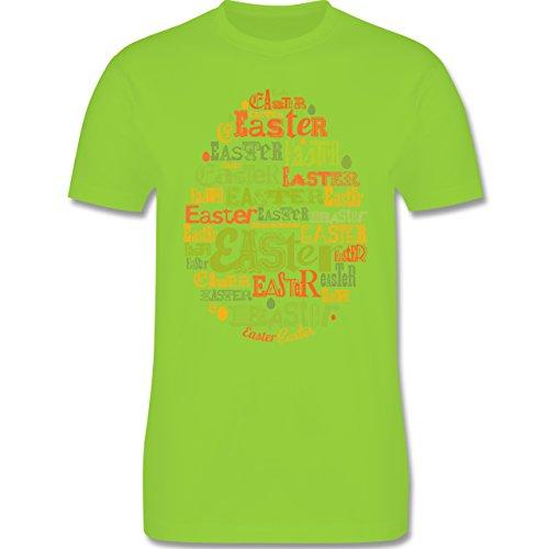Ostern - Osterei Typografie bunt - Herren Premium T-Shirt Hellgrün