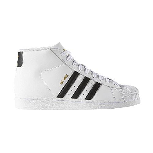 Footaction en ligne jeu commercialisable Chaussures Adidas Lacées Noir / Blanc Eu 42 Promodel (uk 8) fourniture sortie remises en ligne meilleure vente KlIhv