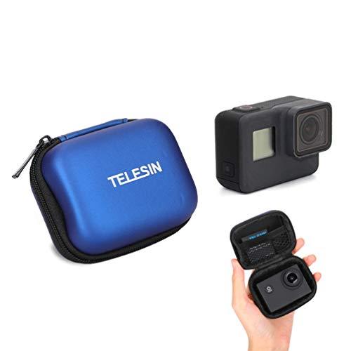 Für GoPro Tasche, Schutz Mini Aufbewahrungstasche für GoPro Hero 7 6 5 4 3 2018 Session Tragbares Reisen PU Leder wasserdichte Schwarz Tasche für GoPro Zubehör (for Mini Tool Bag Blue) -
