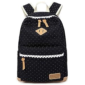413 RlcnAxL. SS300  - Coofit Casual Mochilas Femeninas Lona Mochilas Escolares Vintage Backpack