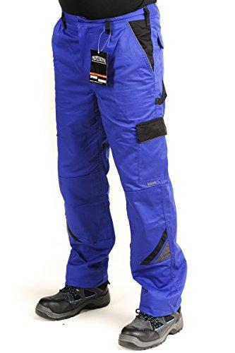 Bundhose Arbeitshose Arbeitskleidung Hose Handwerker Gärtner 320g/m2, grau/blau PROFESSIONAL, Gr. 46-64