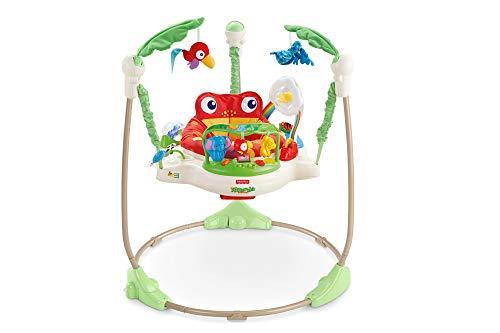 Fisher-Price K7198 Centre d'activité Sauteuse et Jeux Amis de la Forête, Grenouille, pour Bébé avec Musique et Lumières, Multicolore