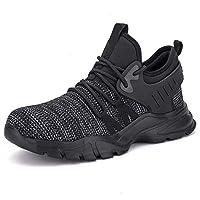 Men Women Work Shoes Safety Shoes ,Lightweight Comfort Slip Resistant Industrial Construction Sneakers