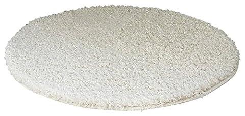 benuta Shaggy Hochflor Teppich Swirls Beige ø 120 cm rund