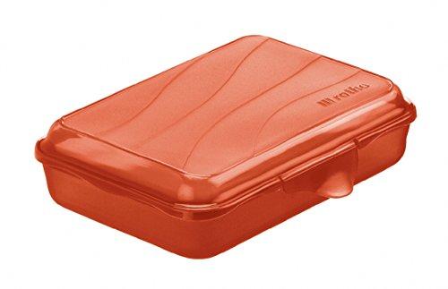 Rotho Funbox Vesperdose 0.45 l, Kunststoff (BPA-frei), rot, 0.45 Liter (16 x 11 x 4 cm) (Scharnier Kunststoff-behälter)
