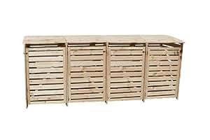 m lltonnenbox holz natur f r vier 240 liter tonnen alternativ k nnen auch 120 liter tonnen. Black Bedroom Furniture Sets. Home Design Ideas