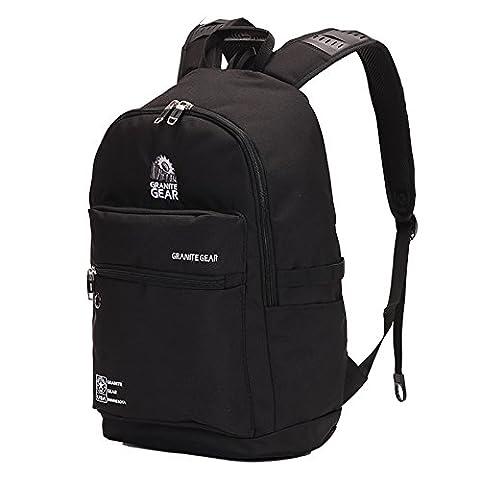 WOLTU® RS8308sz-a , Granite Gear Rucksack Laptop 15 zoll Herren Damen Kinder Schule Freizeit Daypack Backpack Kinder Wandern Camping 17 zoll Laptoprucksack Sportrucksack Schulrucksack Schwarz