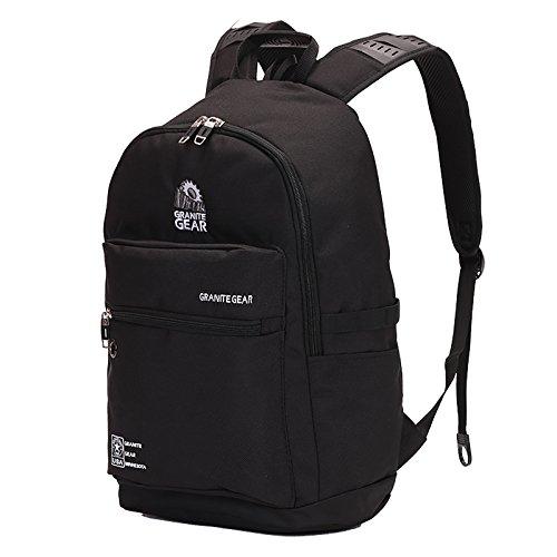WOLTU® RS8308sz , Granite Gear Swisswin rucksack Daypack Backpack Laptop 15 Zoll Herren Damen Schule Kinder Freizeit Wandern Camping 17 zoll LaptopSwisswin rucksack SportSwisswin rucksack SchulSwisswin rucksack Schwarz