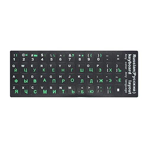 Docooler Russische Tastatur Aufkleber Russisch & Englisch Nicht transparent Tastatur Ersatz Aufkleber Universal für Laptop