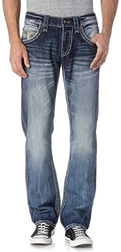 Rock Revival - Mens Phamy J200 Upright Jeans, Size: 36, Color: Denim