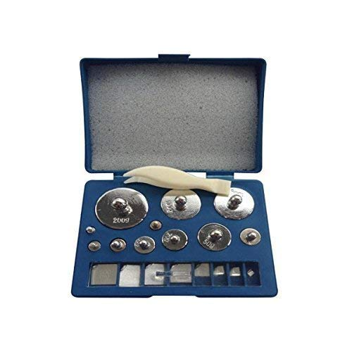 Weddecor 5 x 100g Kalibrierung Gewichte Edelstahl Set für Digital Gleichgewicht Maß, Schmuck Maß, Science Lab - Silbern, 6 Pcs - 205g