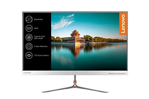 Lenovo L27q-10 68,58 cm (27 Zoll QHD IPS matt) Monitor (HDMI, DisplayPort, 4ms Reaktionszeit) silber