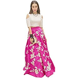 The Great indian sale's Women's New Fashion Designer Fancy Wear Low Price Todays Special Deal Offer All Type Modern Banglori Pink Embroidered Lehenga Style Salwar Suit