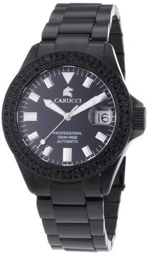 Carucci Watches CA2200ST-BK-BK - Reloj de pulsera mujer, revestimiento de acero inoxidable, color negro