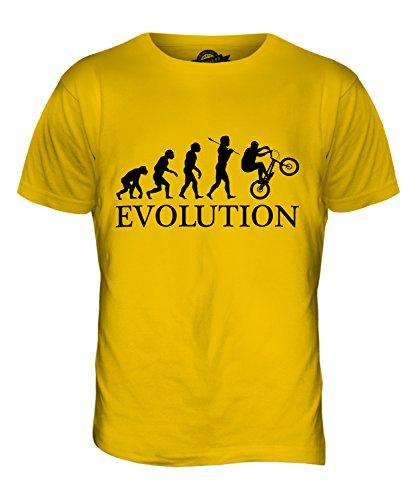 CandyMix Bmx Evolution Des Menschen Herren T Shirt Dunkelgelb