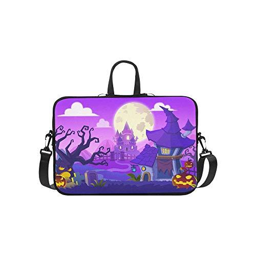Kreative Innovative Kunst Halloween Stadt Aktentasche Laptoptasche Messenger Schulter Arbeitstasche Crossbody Handtasche für Geschäftsreisen
