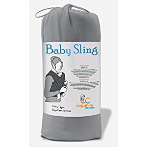 Baby Sling Stretchy Wrap Carrier Pouch Extra Soft and Lightweight Breastfeeding - Birth to 3Yrs (Silver)   4