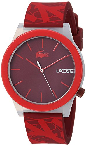 Red Dial Mens Analog Casual Quartz Lacoste Watch Motion 2010933
