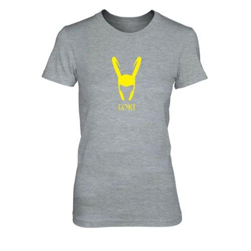 Loki - Damen T-Shirt, Größe: XL, Farbe: grau (Loki Kostüme Avengers)