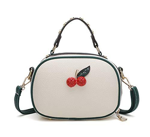 JUND Damen Fashion PU Leder Umhängetasche Kawaii Kirsche Handtaschen Lässig Shell Tasche Messenger...