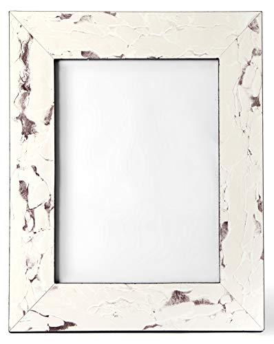 Carla Carstens Weiß Vintage Stone Marmor 8x 10Bilderrahmen | Kunststoff-Acryl Wildleder Glas | Tabletop Desktop Foto | Hochzeit Persönlichen Personalisierte |