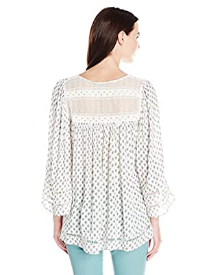 French Connection Women's Ava Tile Gypsy Blouse