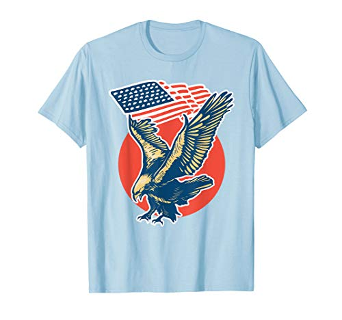 American Flag Eagle-USA T-Shirt - American Eagle-kleidung