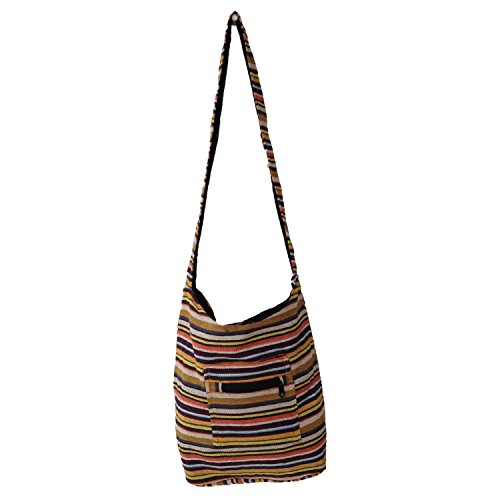 MULTICOR Stripes conception Handloom coton Jhola Sac à bandoulière pour Elle