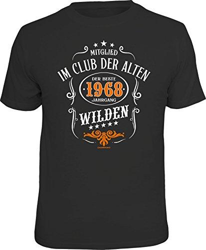 RAHMENLOS Original Geschenk T-Shirt Zum 50. Geburtstag: Mitglied IM Club der Alten Wilden Jahrgang 1968 XL