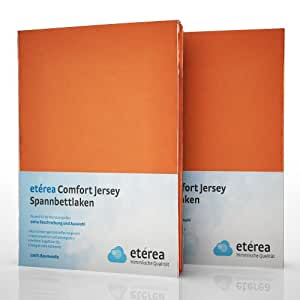 2er / Doppelset etérea Comfort Jersey Spannbettlaken Spannbetttuch Terra in 90x200 - 100x200 cm