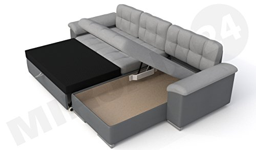 diana ecksofa mit schlaffunktion und bettkasten g nstig kaufen. Black Bedroom Furniture Sets. Home Design Ideas