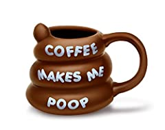Idea Regalo - BigMouth Inc. Coffee makes Me Poop mug, marrone