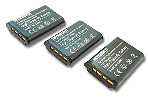 INTENSILO 3X Baterías Li-Ion 1090mAh (3.6V) para cámara, videocámara Sony HDR-CX240E, HDR-CX405, HDR-PJ240 reemplaza NP-BX1.