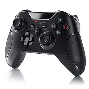 CSL – Wireless Gamepad für PC im Xbox Design – Controller kabellos mit 2,4 Ghz Dongle – hochwertige Analogsticks – geringe Deadzone – schnelle Reaktionsgschwindigkeit – Gummierung für sicheren Grip