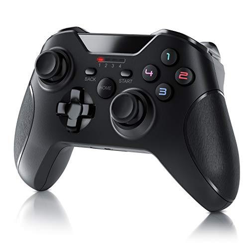 CSL - Wireless Gamepad für PC im Xbox Design - Controller kabellos mit 2,4 Ghz Dongle - hochwertige Analogsticks - geringe Deadzone - schnelle Reaktionsgschwindigkeit - Gummierung für sicheren Grip