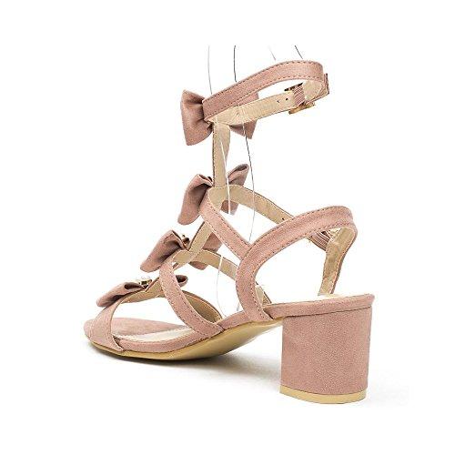 Ideal Shoes , Sandali donna, rosso (rosso), 39 EU