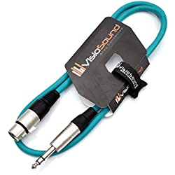 Female XLR to 6.35mm Stereo TRS Jack Lead/Balanced Signal/Audio Patch Cable
