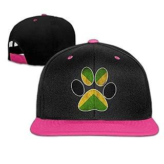 Jamaica Flag Dog PawAdjustable napback Hip Hop Dad Hat Flat BrimBaseball