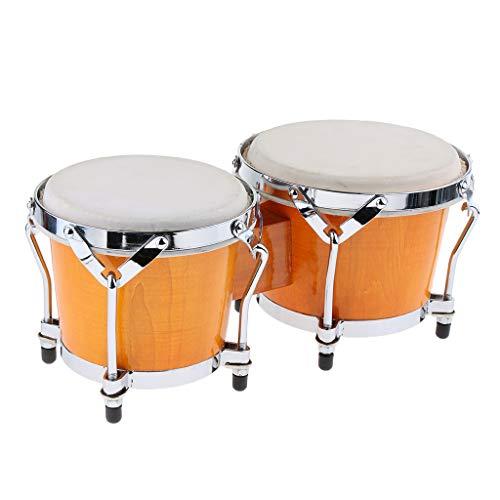B Blesiya 2 Stück Djembe Bongo afrikanische Handtrommel musikalische Handheld Percussion Spielzeug