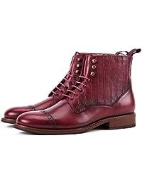 YC Stivali da Uomo Martin Scarpe Casual in Vera Pelle Scarpe Stringate Vintage  Scarpe da Lavoro e90b0cb1629
