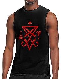 DFGHJZH-L Occult Sigil of Lucifer Satanic Mens Casual Adult Long Sleeve T-Shirts