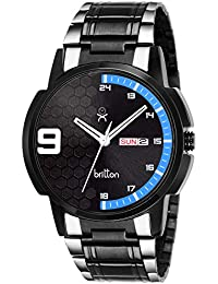 BRITTON Day and Date Display Analogue Black Dial Men's Watch -BR-GR0093-BLK-BLUCH