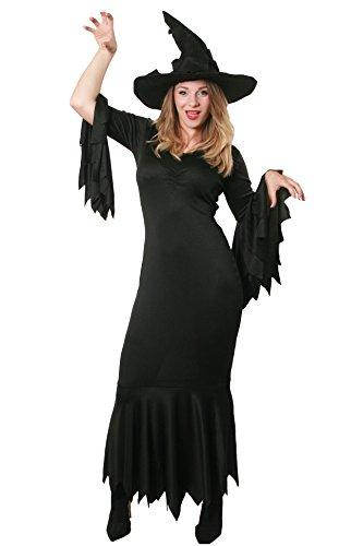ILOVEFANCYDRESS I love Fancy Dress ilfd4541X s-witch Hexe Kostüm inkl. zerrissenen Kleid und schwarz Mütze (XS)