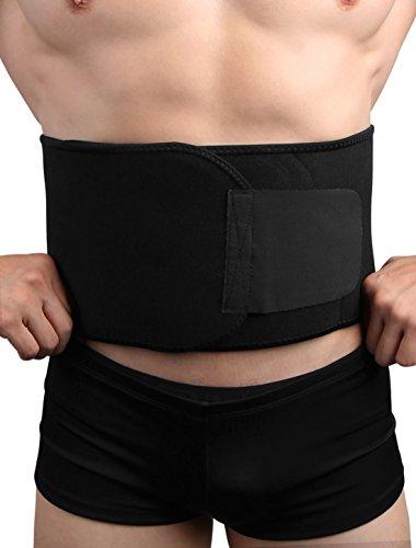 sourcingmap® Schwarz Trimmer Bauch Hüftgurt Gewicht verlieren Abnehm-Gürtel Body - Gewicht-verlust-schlankheits-gürtel