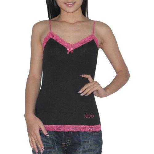 XOXO Femme Very Sexy Unpadded Wireless Bra Slim Fit Chemise Noir