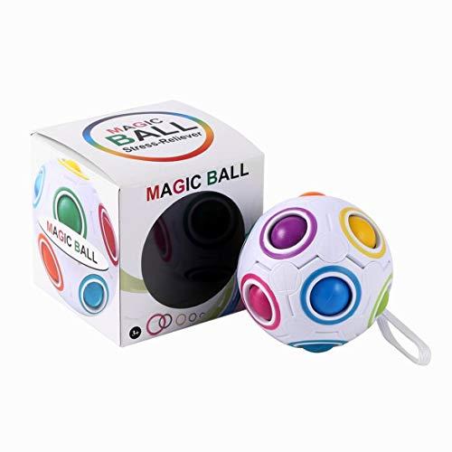 Kongqiabona Magic Rainbow Ball Magique Cube Vitesse Arc-en-Puzzle Puzzle Enfants Jouets d'apprentissage Éducatifs pour Enfants Adulte Anti-Stress