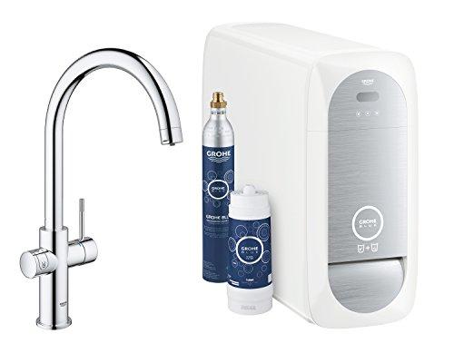 GROHE Blue Home | Küche - Spültischarmatur mit FILTERFUNKTION und WiFi | C-Auslauf | 31455001