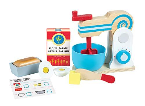Melissa & Doug- Wooden Make-a-Cake Mixer Set