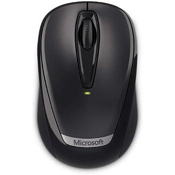 Microsoft Wireless Mobile Mouse 3000 v2 - Ratón (RF inalámbrico, Negro, 0-40 °C, Alcalino, -40-60 °C, AA)